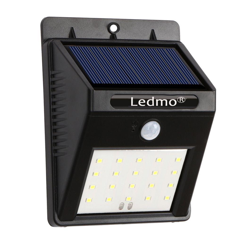 Solar Powered PIR Motion Sensor Wall Security Light Lamp Waterproof for Outdoor
