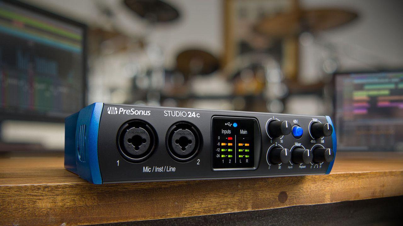 Presonus Studio 24c Usb C Audio Interface Audio Usb Pro Audio