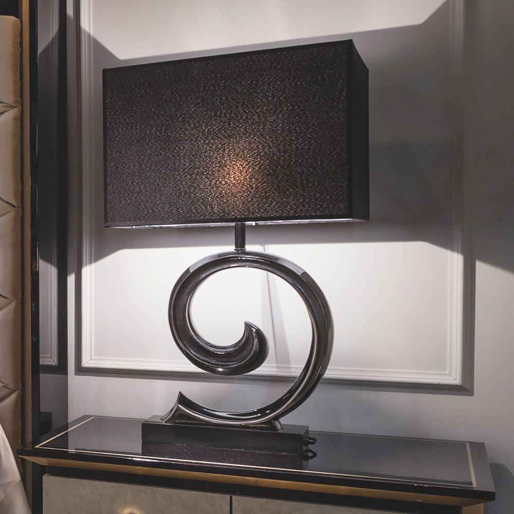 Modern Black Granite Table Lamp Granite table, Luxury