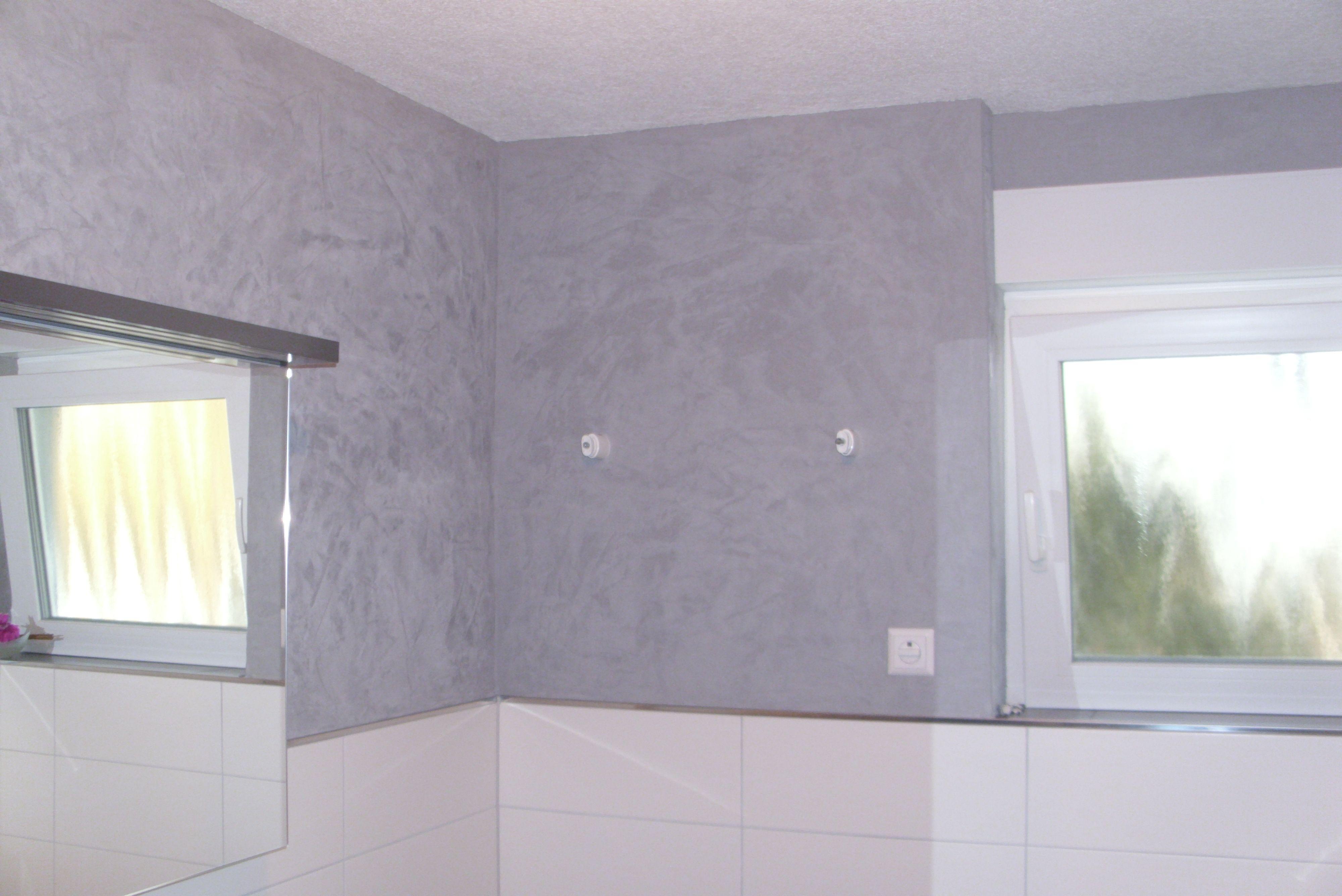 Spachteltechnik Badezimmer
