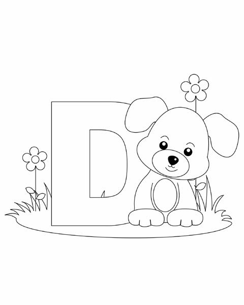 Letter D Coloring Page  Abc Coloring Pages