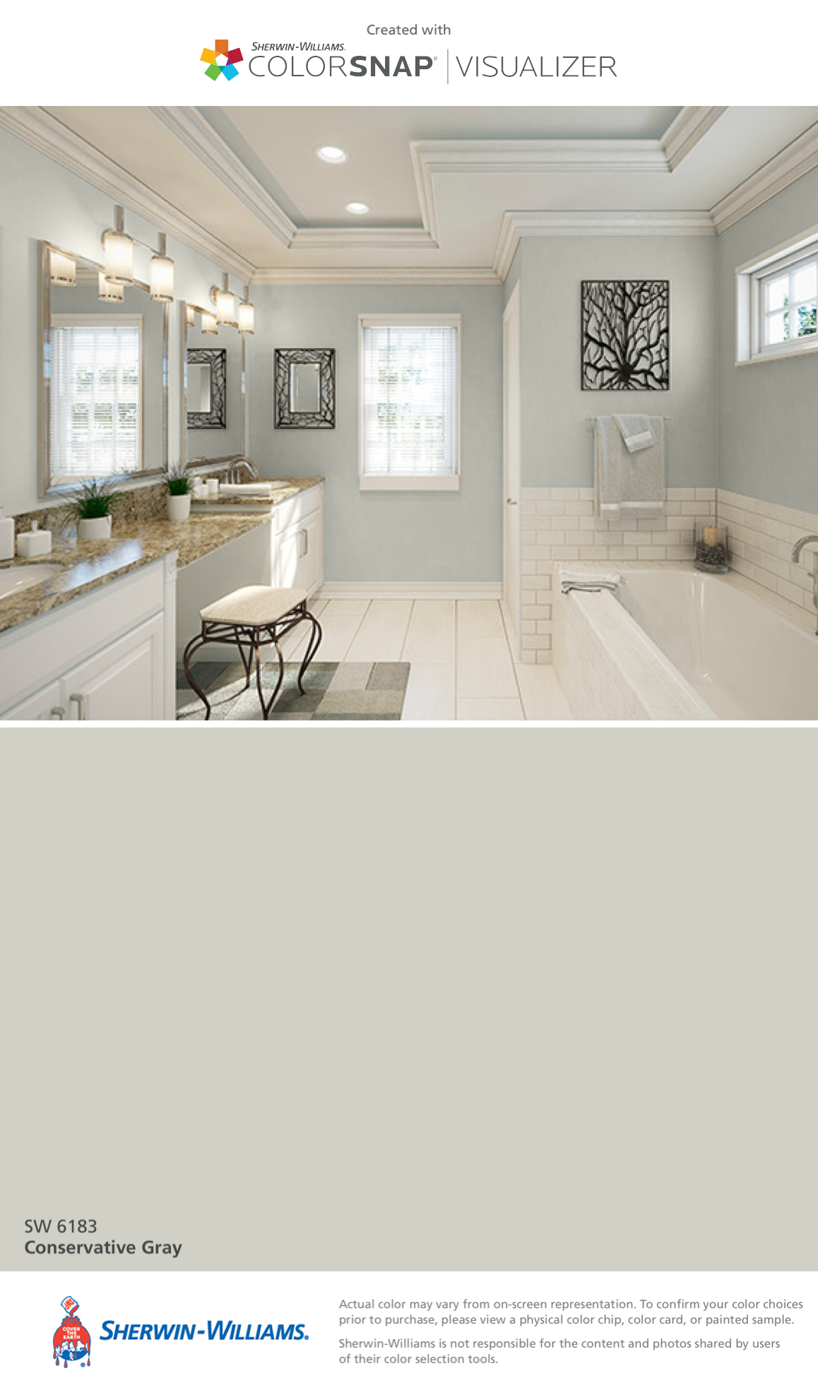 I Found This Color With Colorsnap Visualizer For Iphone By Sherwin Williams Conservative Gray Sw 6183