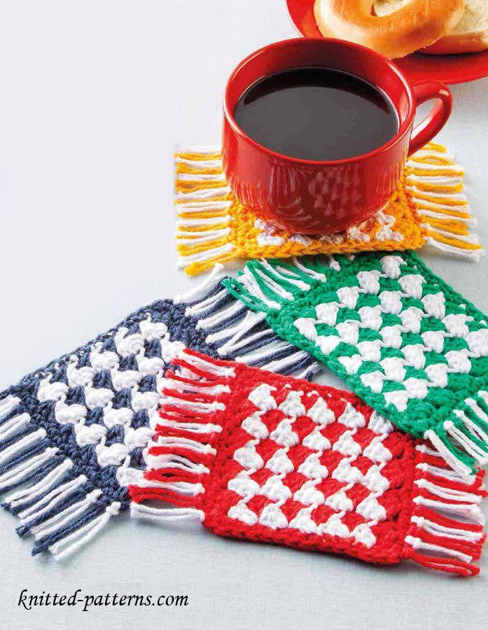 Mug rug coaster crochet free pattern | Crochet deco y otros ...