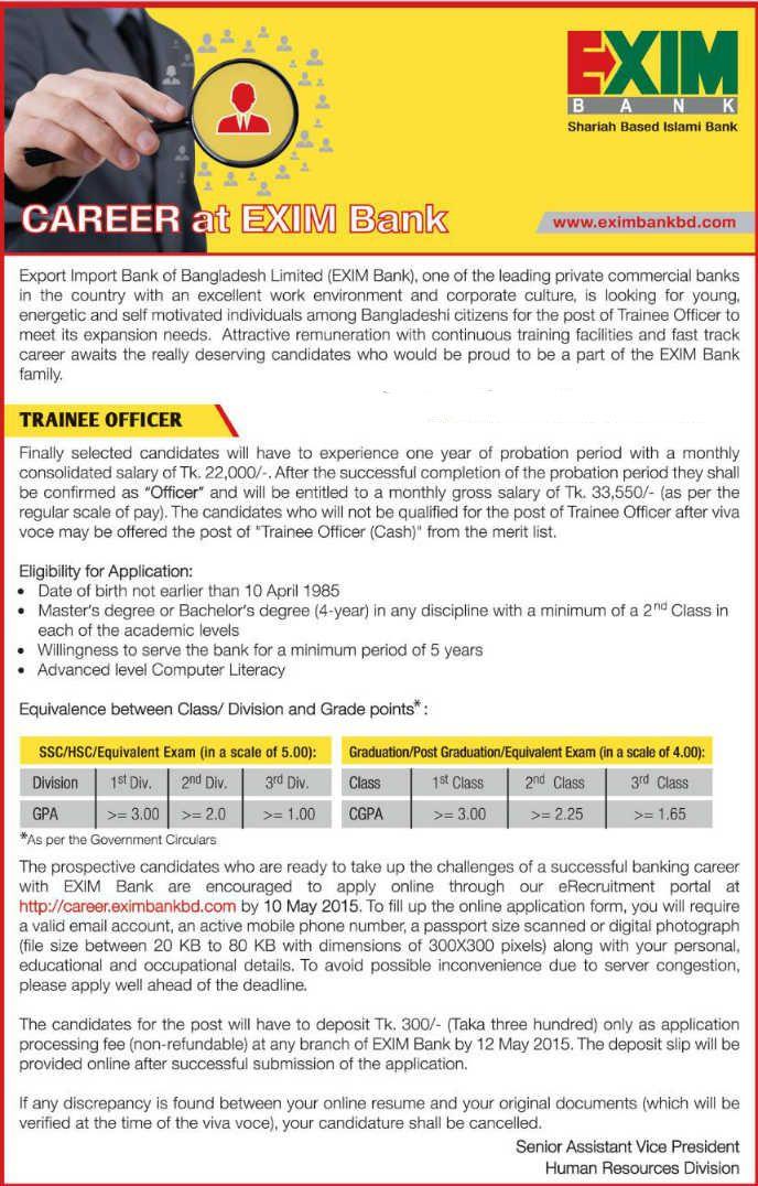 Bangladesh Exim Bank Ltd Trainee Officer Job Opportunity