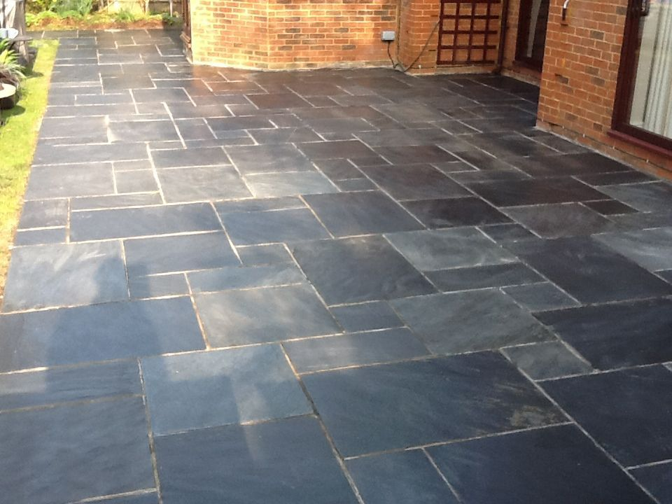 Slate Tiles For A Patio Photo 6 Gardens Pinterest