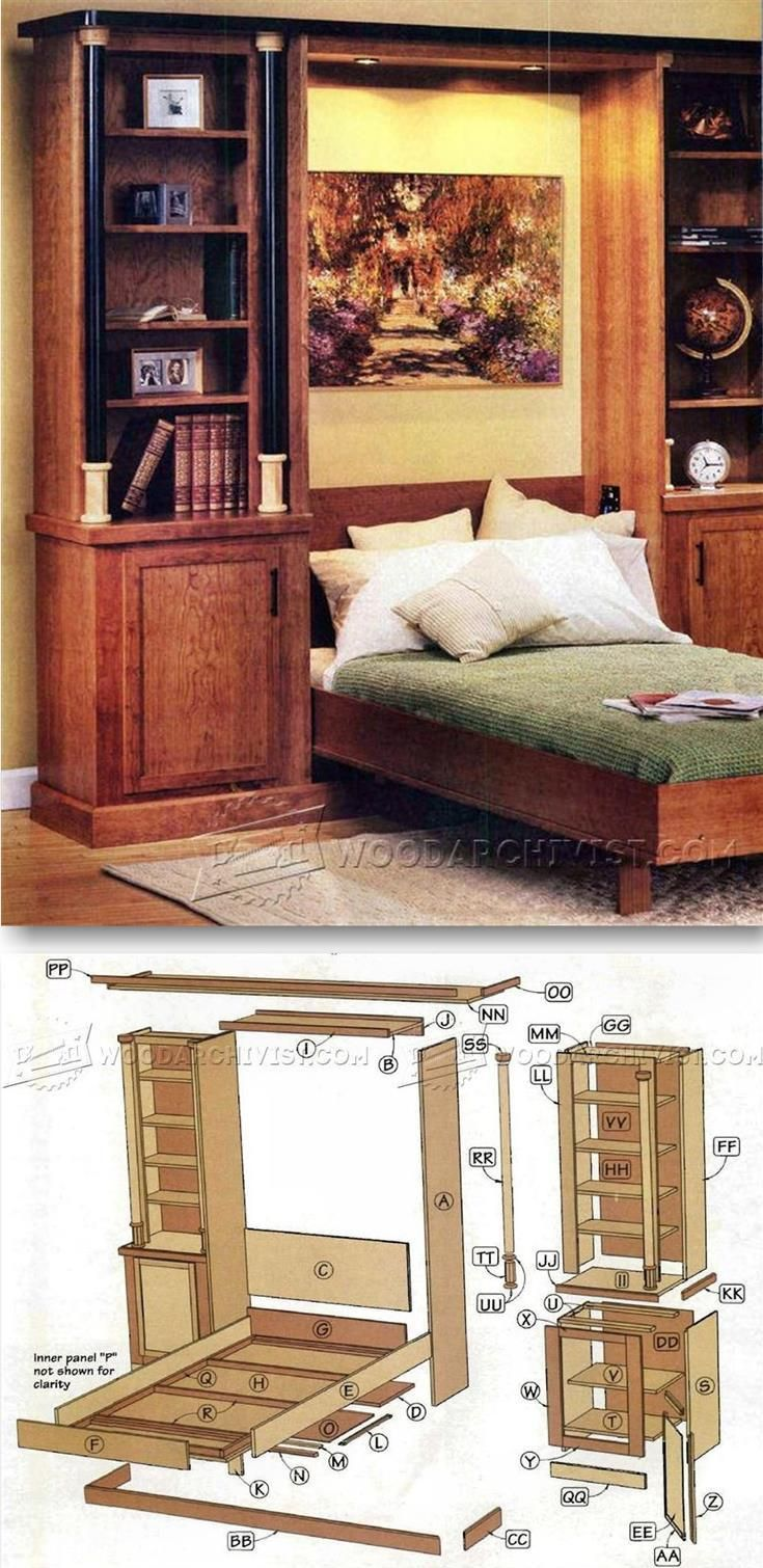 Murphy Bed Plans   Furniture Plans And Projects | WoodArchivist.com