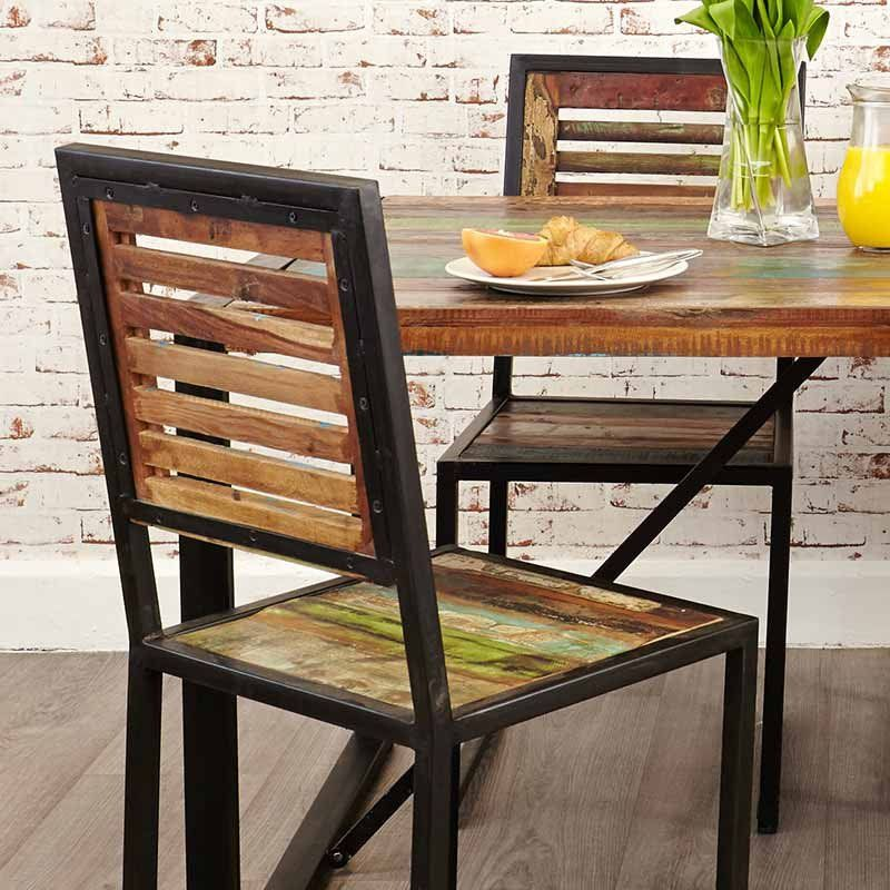 Urban Chic Reclaimed Wood Dining Chair  Set Of 2 is part of Chic dining chairs - Shop for chairs from Baumhaus' Urban Chic Reclaimed Wood collection at Space and Shape  Durable and ecofriendly furniture  FREE UK delivery over £300!