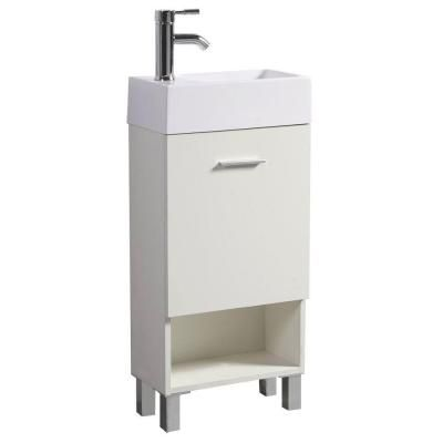 Bathroom Vanity 30 X 16 sheffield home 16 in. w x 30 in. h vanity in classic white with