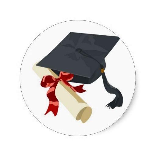 Graduation Cap Diploma Classic Round Sticker Zazzle Com In 2021 Graduation Cap Congratulations Graduate Graduation Photography