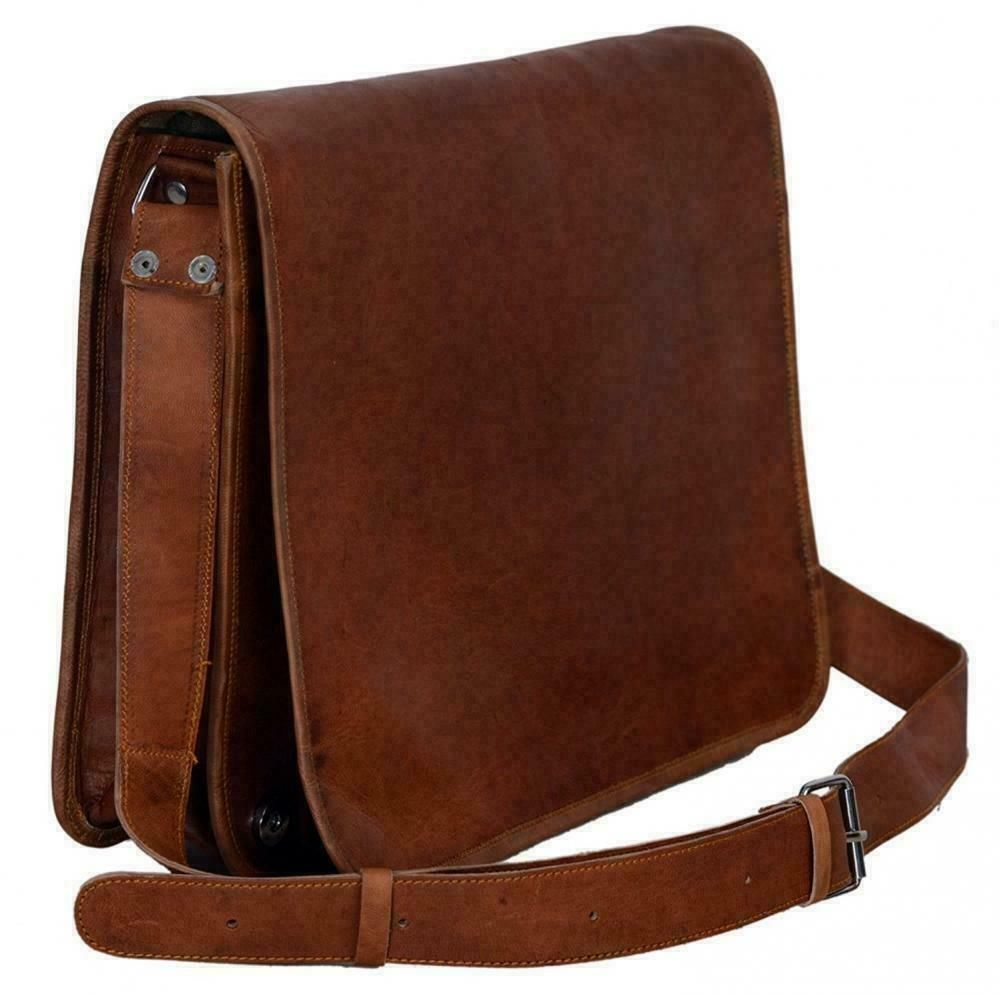 Men Genuine Vintage Leather Satchel Messenger Man HandBag Laptop Briefcase Bag