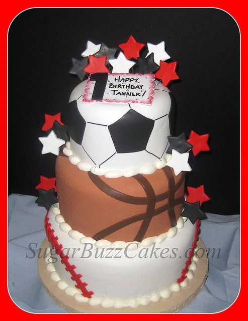 Sports Balls Birthday Cake Cakes Cakes More Cakes