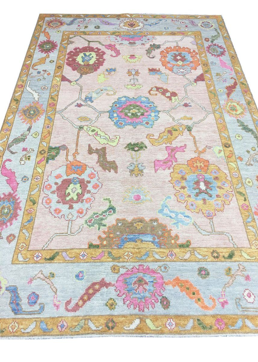 Hand Knotted Oushak Area Rug 18 Area Rug Collections Area Rugs Rugs