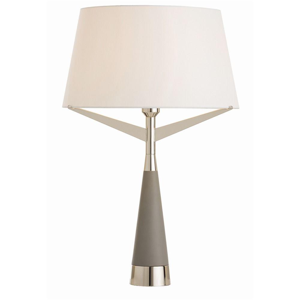 Arteriors Elden Lamp   Grey table lamps, Table lamp