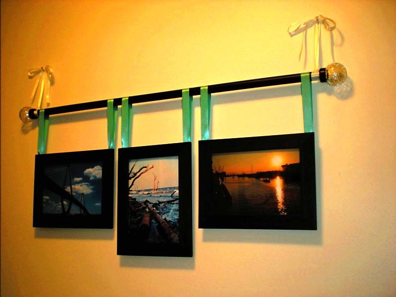 Curtain Rod Frame Display With Some Of My Fav Chas Pics