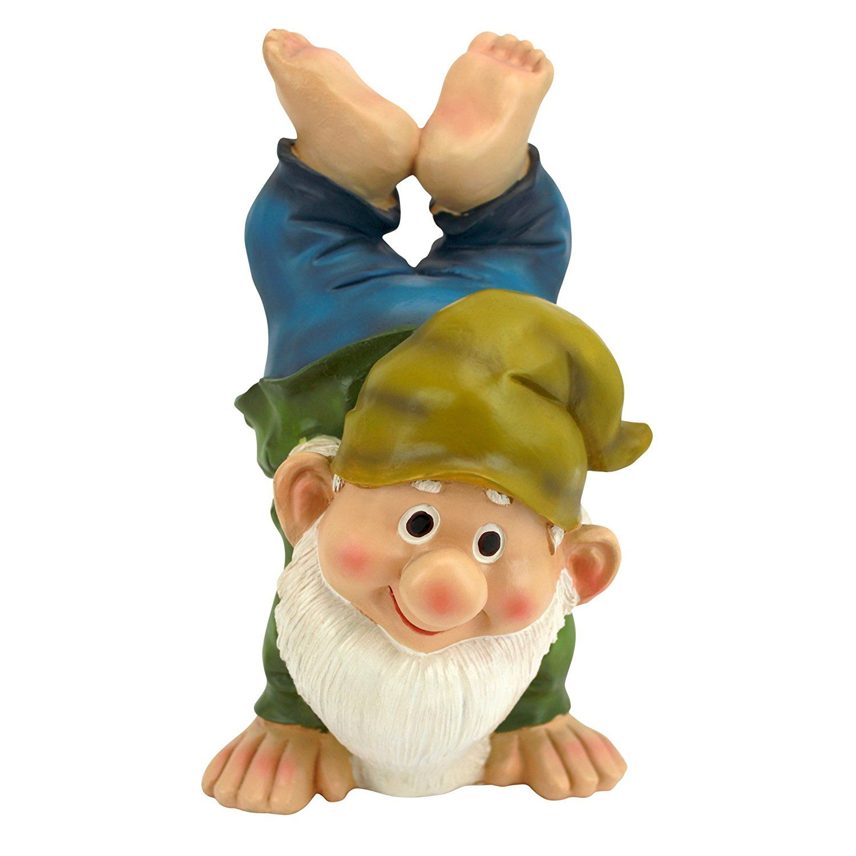 Amazon.com : Design Toscano Handstand Henry The Garden Gnome Statue : Outdoor  Statues :