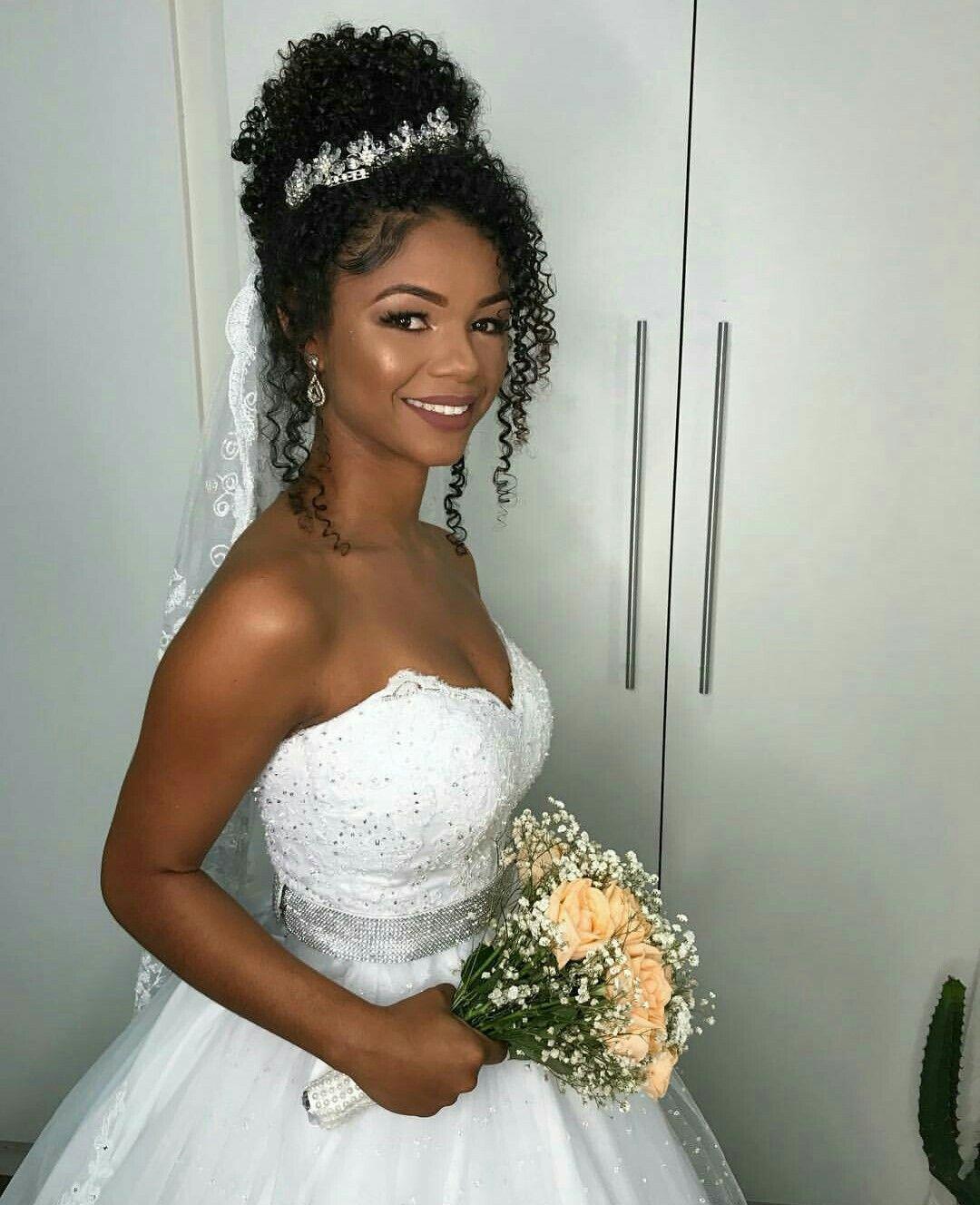 curly bun Soft Glam Makeup Black Women curly bun