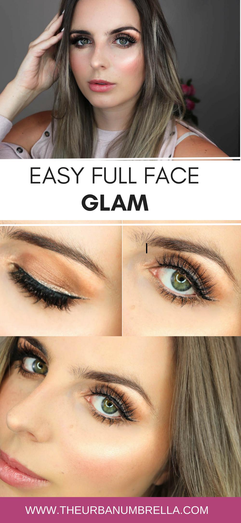 Full Face Glam Makeup Tutorial Glam makeup, Beauty hacks