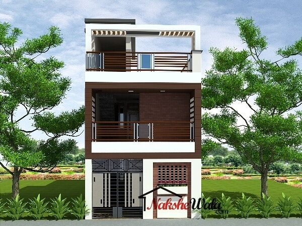 Small House Elevations Front View Designs Duplex Small House Elevation House Elevation House Front Design