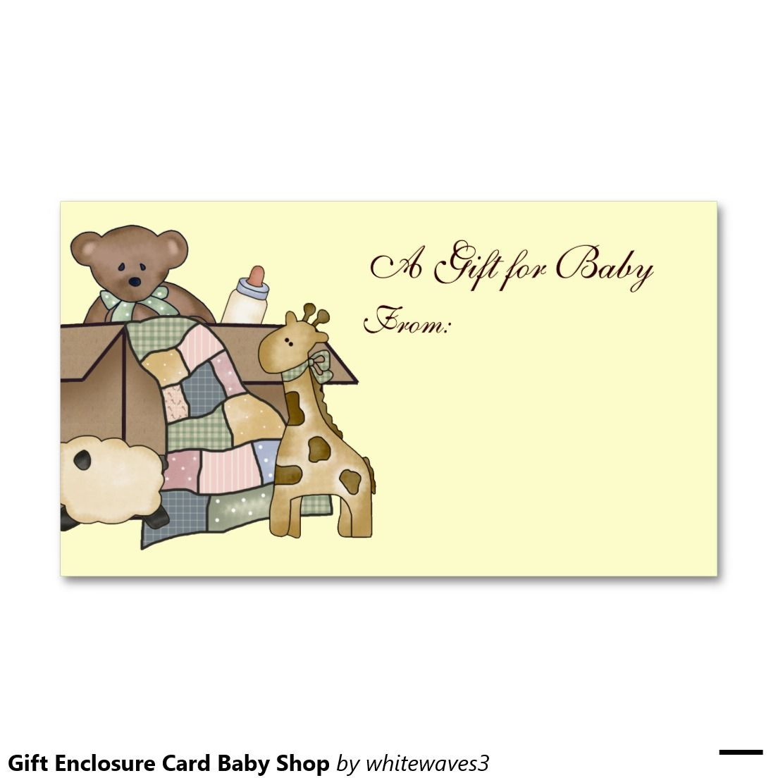 Gift Enclosure Card Baby Shop Double-Sided Standard Business Cards (Pack Of 100)