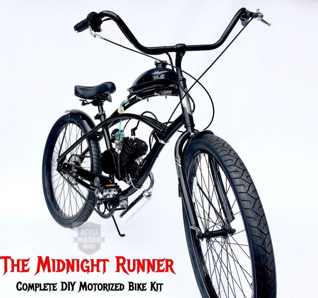 Midnight Runner Motorized Bicycle Kit 289 99 In 2020 Motorized