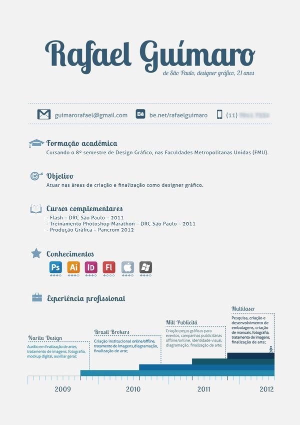 Personal Resume By Rafael Guimaro Via Behance Resume Pinterest