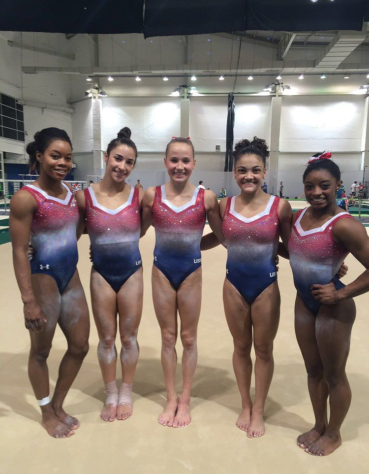 Meet the US women's gymnastics team: Gabby Douglas, Aly Raisman, Madison  Kocian, Laurie Hernandez, and Simone Biles.