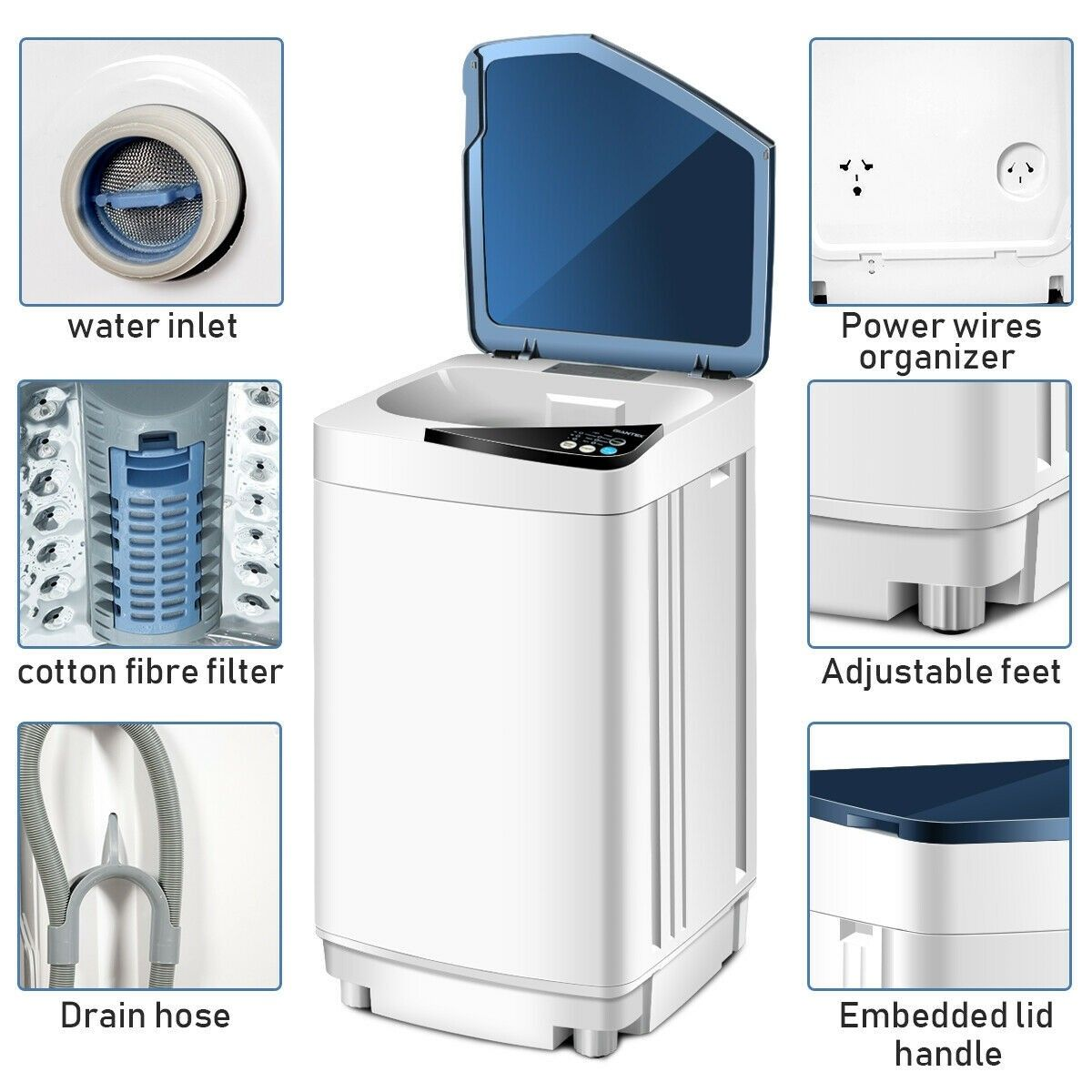 Apartment Size Washer And Dryer Stackable Small Washing Machine Mini Washing Machine Clothes Washing Machine