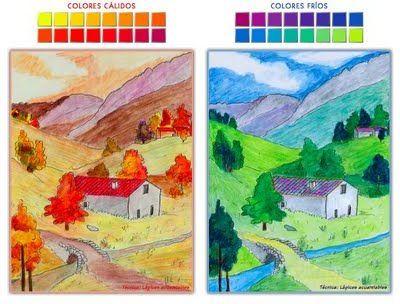 Colores Cálidos Y Fríos Son Composiciones En Los Que Los Colores