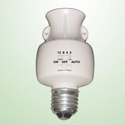 Timer For Light Bulb: GSI Quality Bulb Holder Socket With Built In Motion Detector And Timer -  For Security Lighting,Lighting