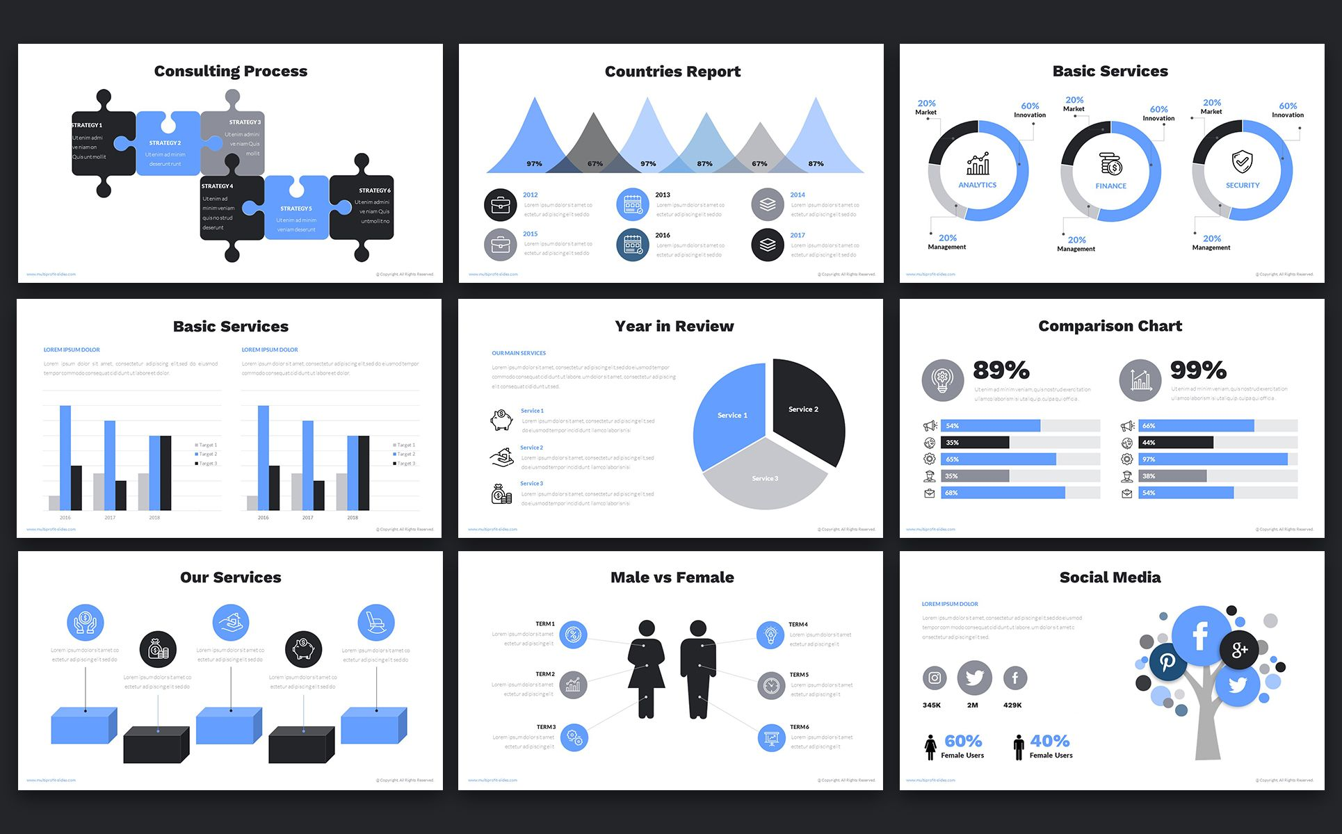 Multi Profit Financial Company Presentation Ppt Powerpoint