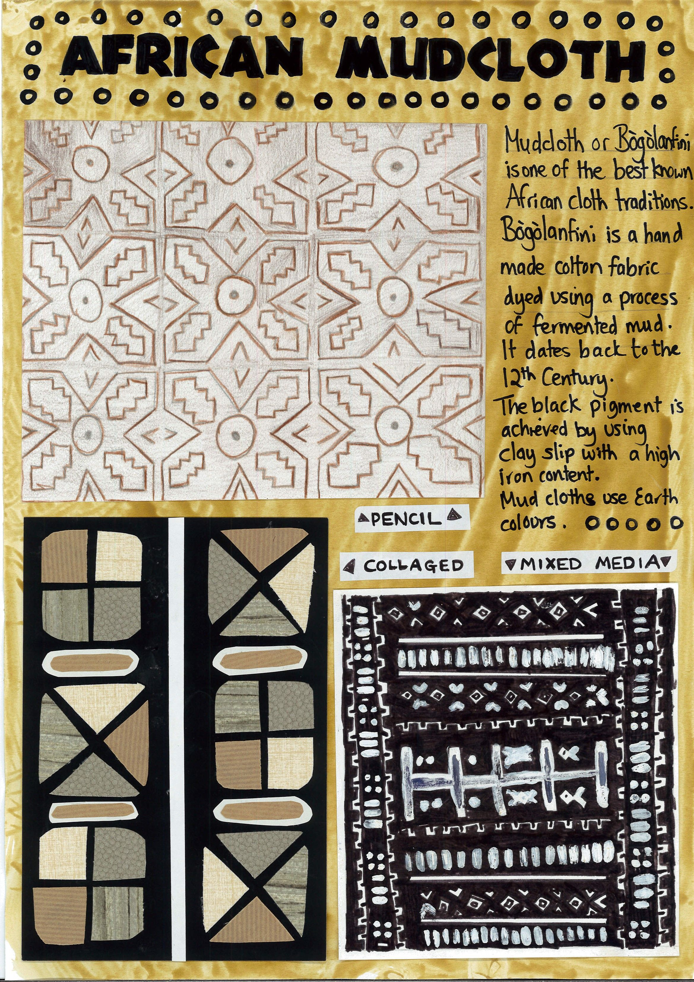 Mudcloth Bogolanfini Worksheet