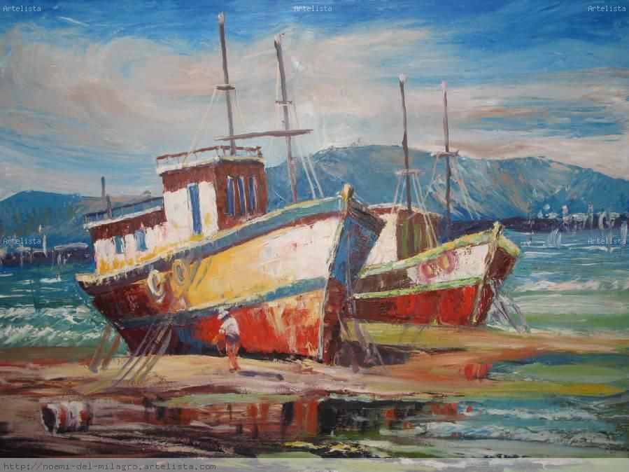 Pinturas Al Oleo Marinas Pesquisa Google Mares