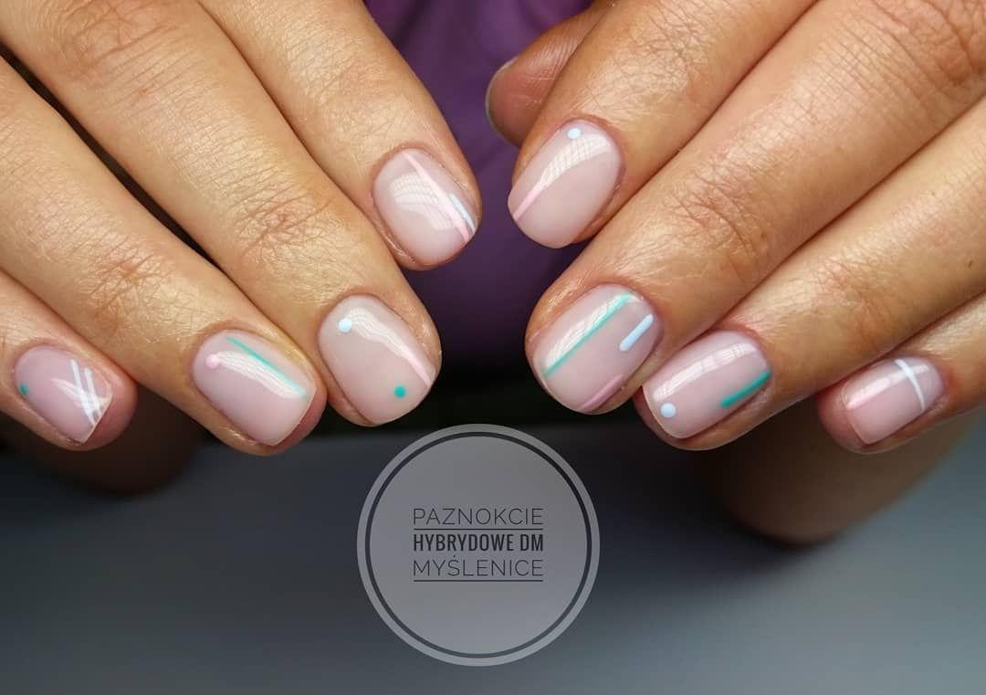 Minimalistyczne Nail Nails Hobby Paznokcie Hybrydowe