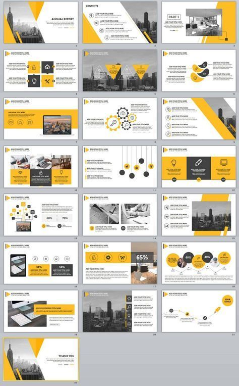 22+ Annual Report Creative PowerPoint Template