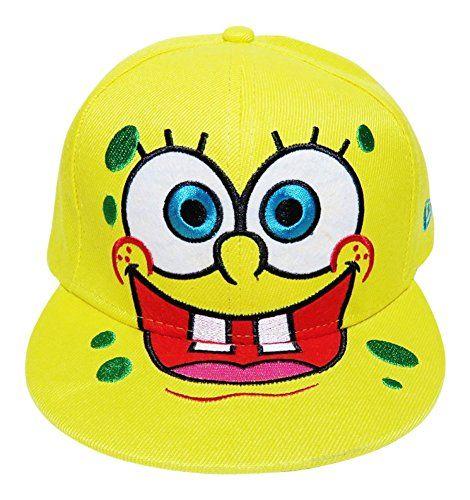 f72f92e4217 Spongebob Squidward or Patrick Flat Bill Snap Back Baseball Cap Hat  Headwear Nickelodeon (Smiling S   niftywarehouse.com  NiftyWarehouse   Spongebob ...
