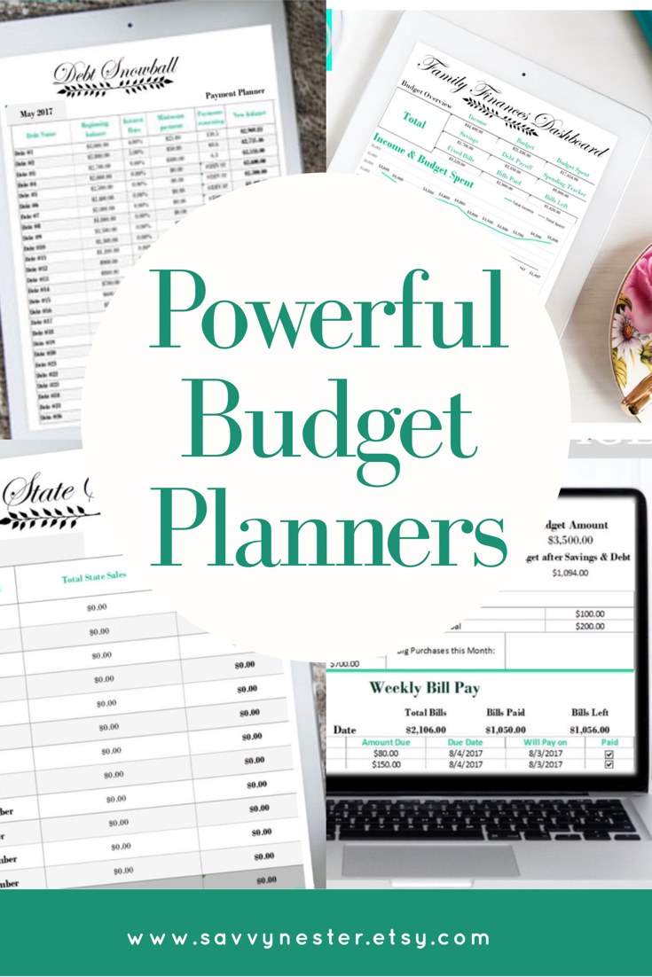 finance budget planner weekly income track excel debt snowball
