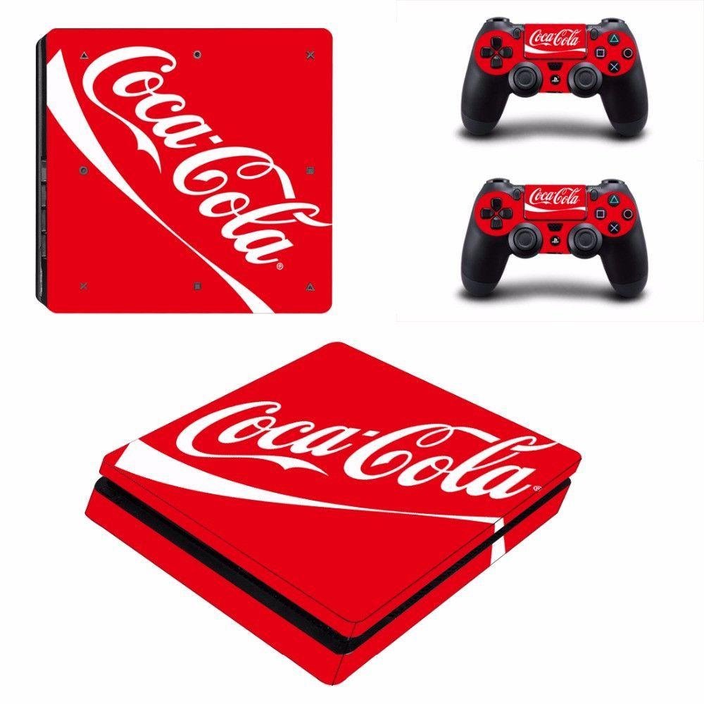 PS4 Slim Skin Stickers Coca Cola Designed  05f555d5778