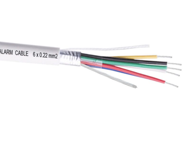 6 Core Security Alarm Wire Cable Shielded Strand 6 X 0 22 Mm2 Security Alarm Cctv Security Cameras Cable