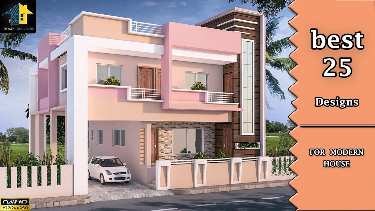 Top 25 Front Elevation Designs For Double Floor Houses 2 Floor Buildin House Outer Design House Front Design Duplex House Design