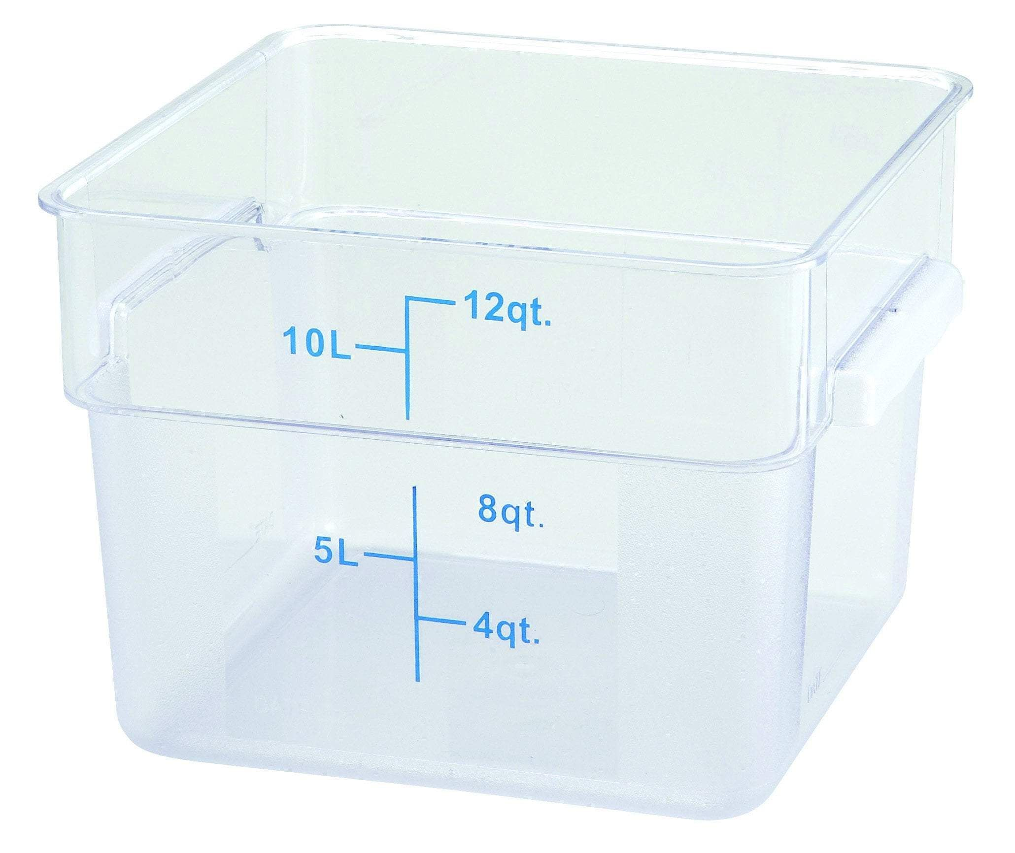 Winco Pcsc 12c 12qt Square Storage Container Clear Pc Food Storage Food Storage Storage Containers Storage