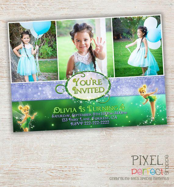 Tinkerbell Invitation Tinkerbell Birthday Party Tinkerbell