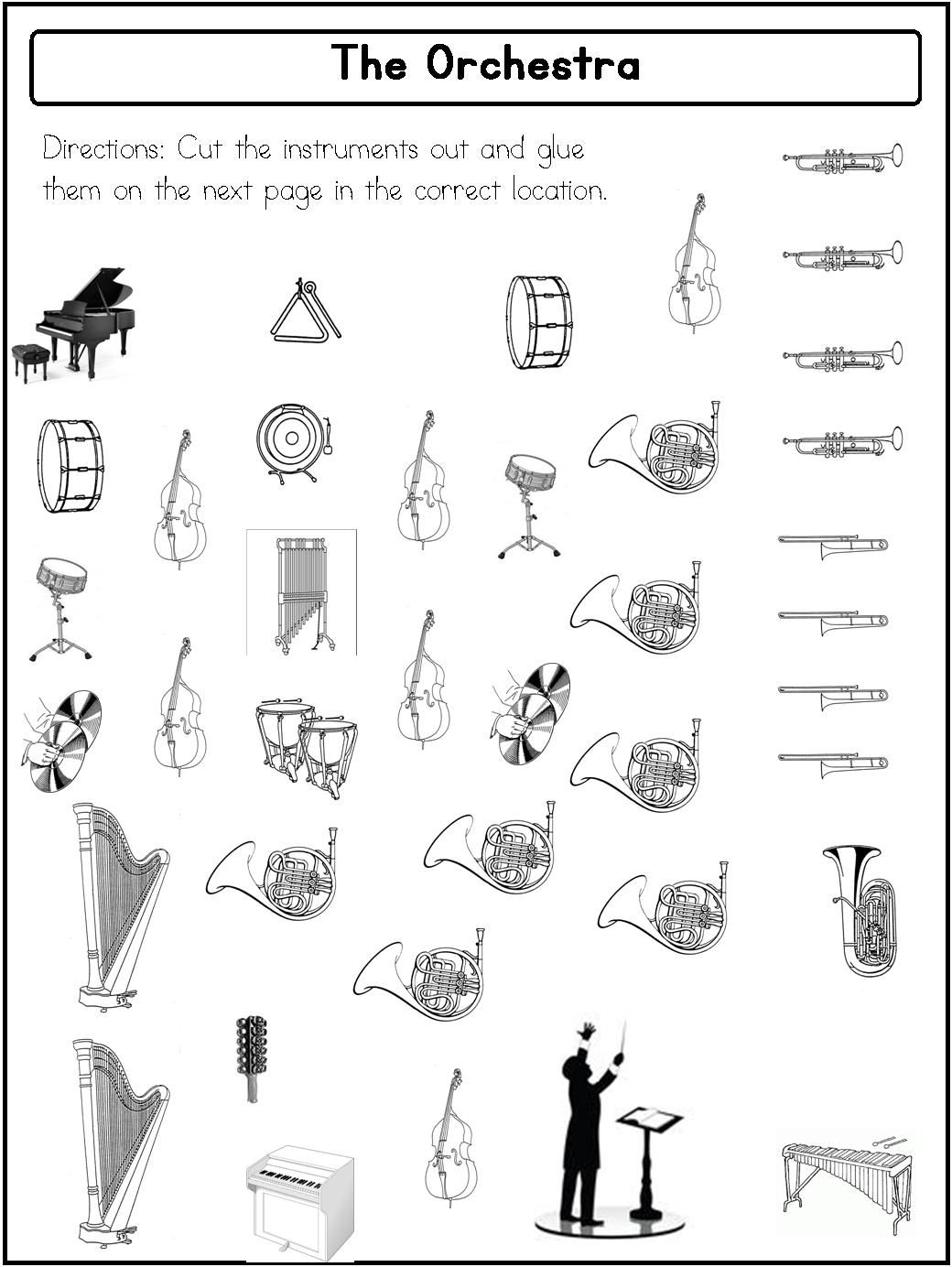 Orchestra Set Up Printable