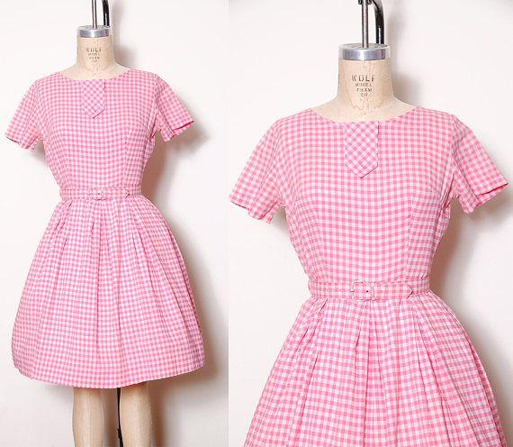 Short Gingham Dresses