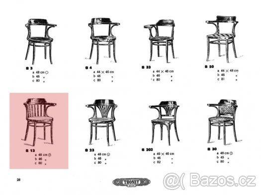 Židle, křeslo, křesílko Thonet Mundus B 13. - 1