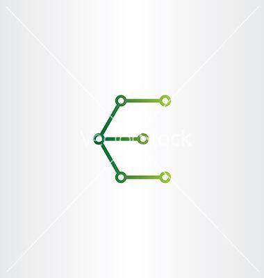 letter e logo electronics circuit icon vectorblasko - image, Presentation templates