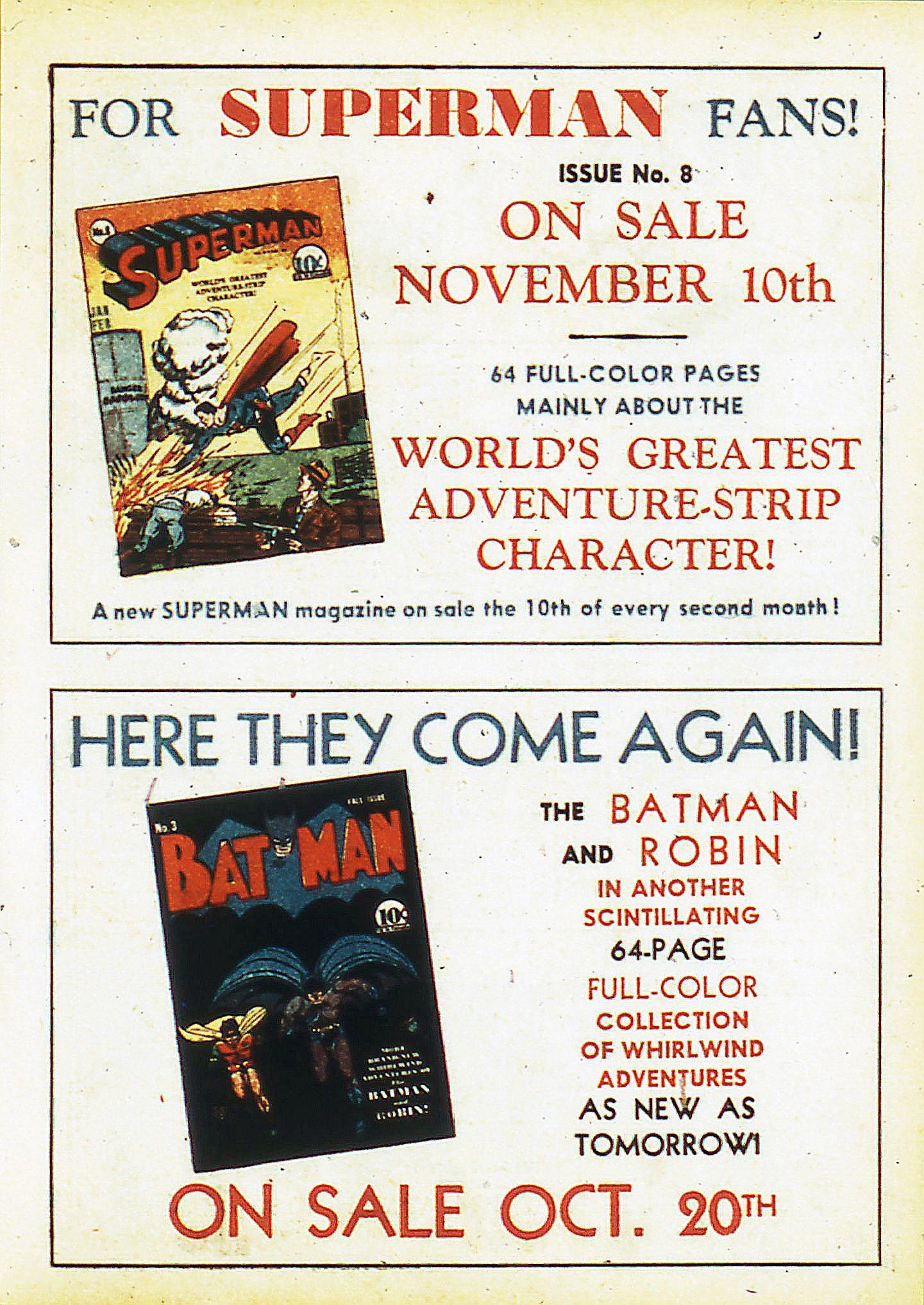Dc Superman Batman Ads 1940 Superman Dc Comics Art Ads
