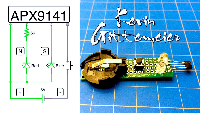 Diy Magnet Pole Tester Hall Effect Sensor Electronics Electrical Circuit