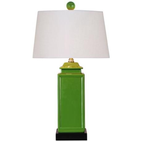 apple green porcelain jar table lamp 2x984