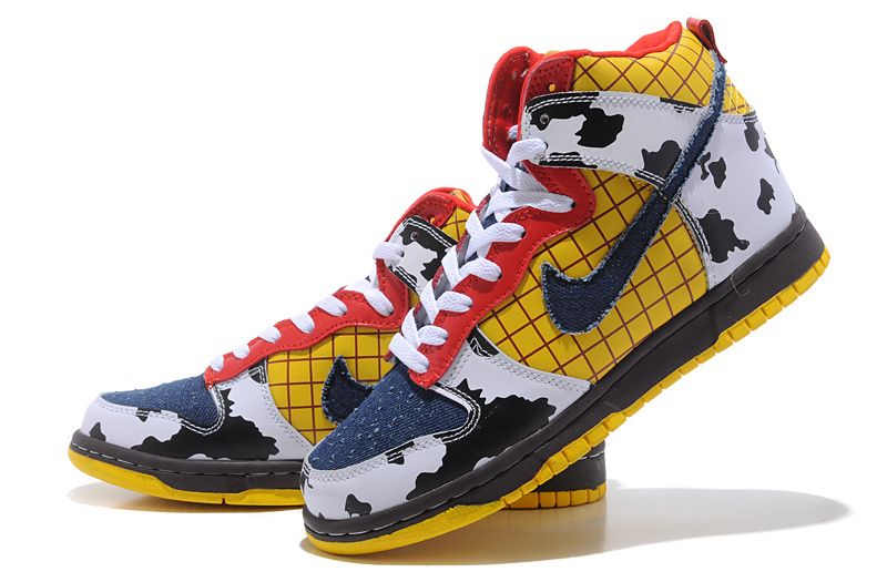pretty nice 66165 a582c Buy Latest Woody Nike Dunk Custom Toy Story High Tops Shoes
