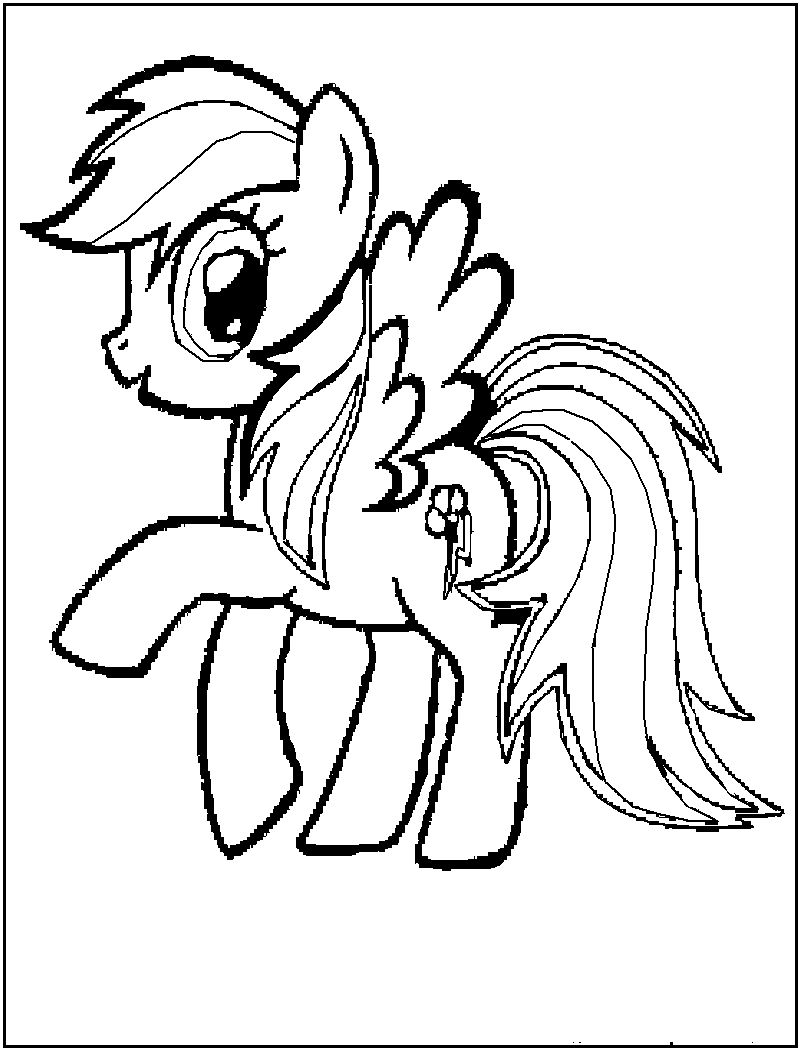 Free Printable My Little Pony Coloring Pages For Kids | Aperitivos